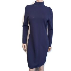 LAUREN RALPH LAUREN Mock Neck Long Sleeve Dress